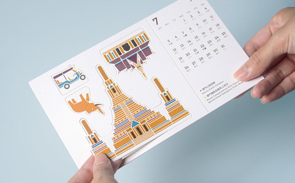 оригинальный календарь с вырубкой